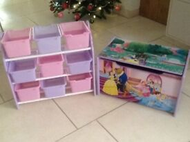 Child's Princess Toy Box and Storage