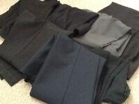 7 pairs of ladies trousers 4black 1 grey 2 navy ,