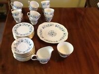 Lovely bone china 10 place tea set at a bargain price £50.