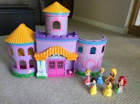 Princess castle with Disney princess
