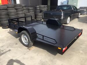 Motorbike trailer for dirt and road bikes built low Mitchell Gungahlin Area Preview