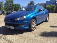 Peugeot 206 CC Convertible - Very Low Mileage - Full Service History - MOT April 2018
