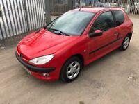 2001 Peugeot 206 1.4 petrol, ideal learner car ,cheap tax and insurance 12 mths mot