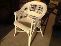 Pale cream cane chair