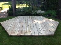 Patio deck kit - 6 sided - 2.70 m x 3.10 m, New
