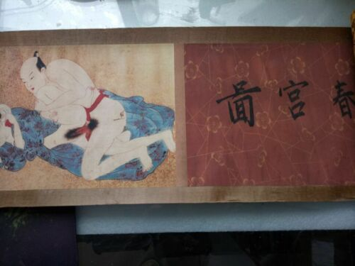 ancient Japan painting shunga artistic erotic viusal painting scrolls N1