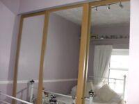 aok/ mirrored sliding wardrobe doors