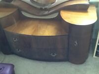 Gorgeous vintage dressing table with large mirror