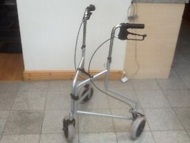 3 wheeled mobility aide walker-ex showroom display model-has lever brakes on handles