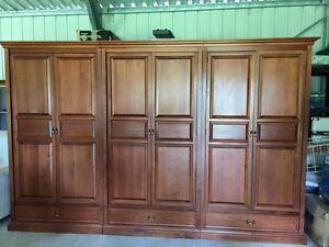 Three Piece Walnut Berryman Wardrobe Nowra Nowra-Bomaderry Preview