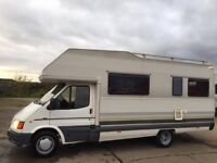FORD TRANSIT ELNAGH COLUMBIA 6 BERTH MOTORHOME,ONLY 60K MILES,LEFT HAND DRIVE! POWER STEERING!