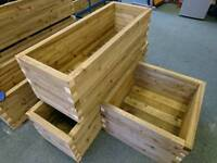 Heavy duty treated garden planter boxes