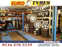 CHEAP PART WORN & NEW TYRES.OPEN BANK HOLIDAY 10am, MICH.CONT. 68 BARKBY RD LEICESTER 01162765135