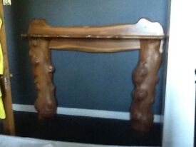 Hand Made Elm Wood Fire Surround by Rob Elliot
