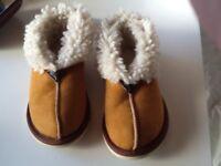 Women's Celtic sheepskin slippers