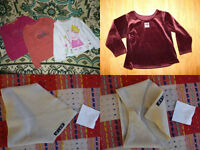 Bundle of 44 girl clothes for 3-4 years: tops, skirts, leggings, trousers, vests, tights, hats,socks