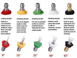 BRAND NEW PRESSURE WASHER NOZZLES - SET OF 5 Thornlands Redland Area Preview