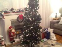 6ft pre-lit slim Xmas tree