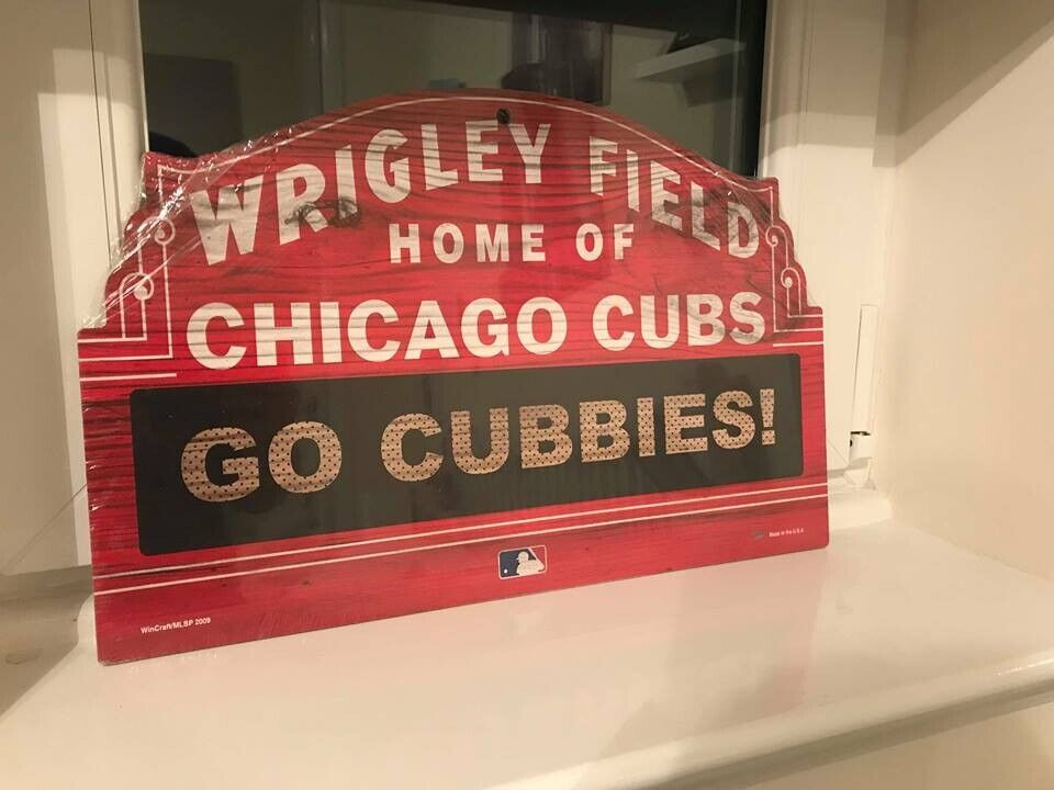 Wrigley Field Sign Chicago Cubs Official Mlb Merchandise In Stirling Gumtree