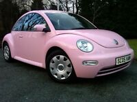 Log Book PINK, Low Mileage, Perfect Condition VW Beetle