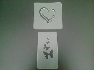 heart & butterfly face paint stencil reusable many times butterflies hearts love
