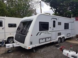 2013 Buccaneer Clipper 4 berth caravan FIXED SINGLE BEDS, MOTOR MOVER, BARGAIN !