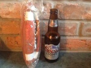 Coors Light beer mini footballs