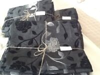 Black curtains from Next. 3 sets but will sell as indiv. Pairs.