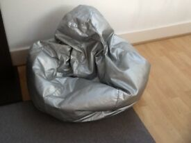BEANBAG WITH SILVER COVER