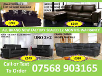 SOFA BEST OFFER BRAND NEW LEATHER SOFAS FAST DELIVERY 76618