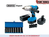 "Draper Expert 24V 1/2"" Cordless Impact Wrench 2x Bat & 14"