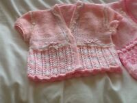 HAND KNITTED BABY GIRLS CARDIGANS