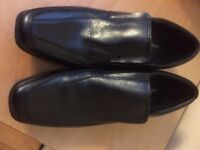 Black Leather Shoes -Size 5