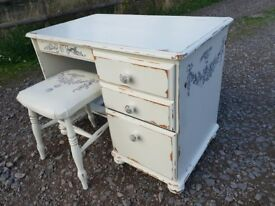 bohemian / shabby chic style dressing table / desk set