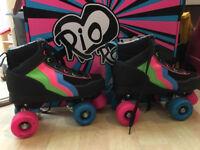Rio Roller Classic II Disco Roller Skates, UK size 3