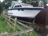 Boat,cabin cruiser diesel