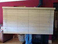 Sunwood wooden slatted blind in light oak 2m wide