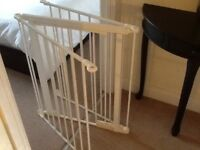 Childs Safety Gate In White Strong Metal