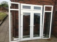 White French Doors- with Top Light and Side Lights