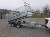 "10'x5'6"" GALVANISED TIPPER TRAILER 3.5ton gross LED LIGHTS"