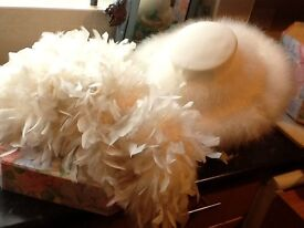 Special occasion hat and boa