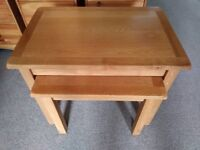 Solid Oak Nest of Tables (2)