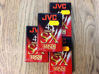 FOUR NEW VHS-C JVC VIDEO TAPES