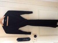 LADIES HOBBS BLACK WRAP DRESS SIZE 10
