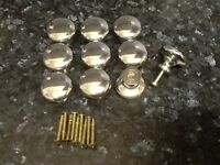 Drawer Knobs x 9 Homebase Cost £3.50 Each Some Used Still Good Condition