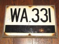 (#438) metal enamel rail railway marker sign (Pick up only, Dy4 area)