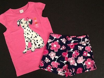 Gymboree Outlet Exclusive 5 Mix N Match Outfit Dalmatian Top Floral Shorts NWT
