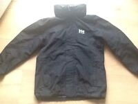 Helly Hanson black coat aged 10/11 year old