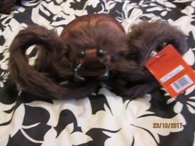 LARGE HAIRY BROWN SPIDER HALLOWEEN PARTY DECORATION BRAND NEW HAVE 2 AVAILABLE