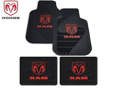 4 Pc Dodge Ram 1500 2500 3500 Front/Rear Rubber Floor Mats Free Fast Shipping